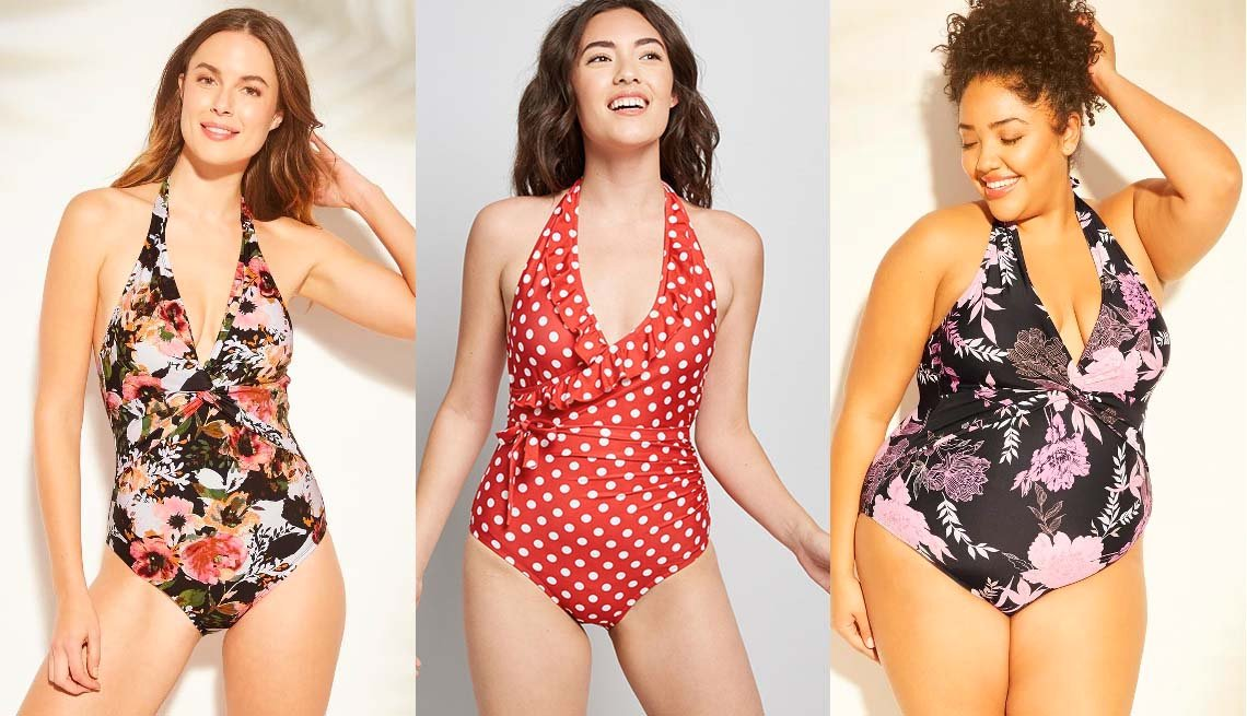 item 7, Gallery image. Kona Sol Twist Halter One-Piece; The Reese One-Piece; Kona Sol Plus-Size Twist Halter One-Piece