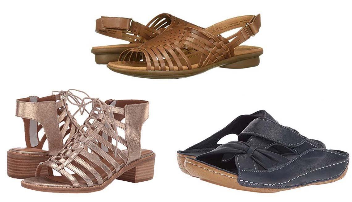 Zapatos de verano para problemas en los pies.