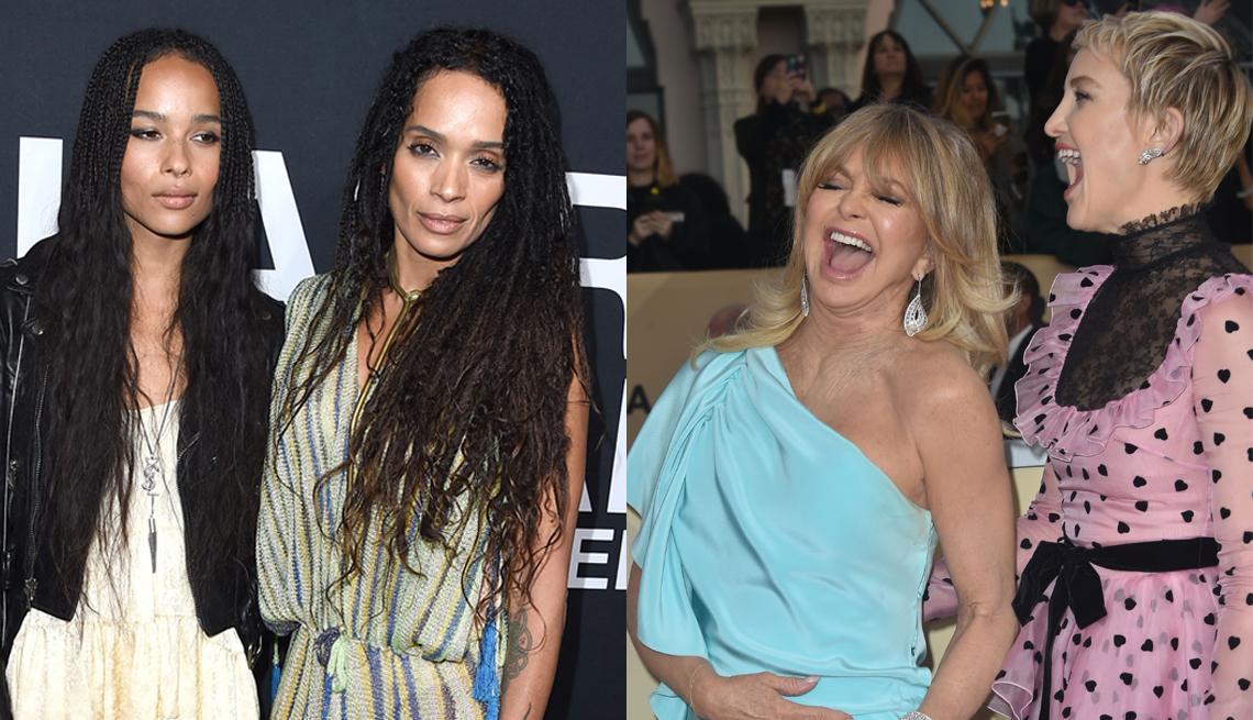 item 1 of Gallery image - (l to r) Zoe Kravitz and Lisa Bonet; Goldie Hawn and Kate Hudson