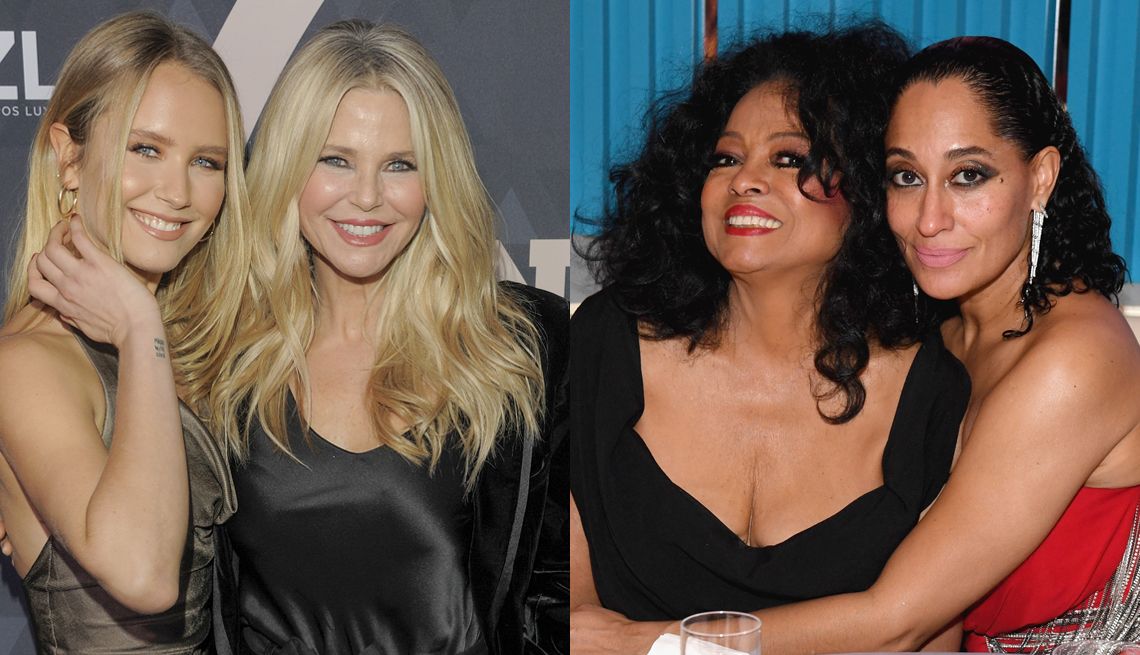 item 5 of Gallery image - Sailor Brinkley Cook  and Christie Brinkley; Diana Ross and Tracee Ellis Ross