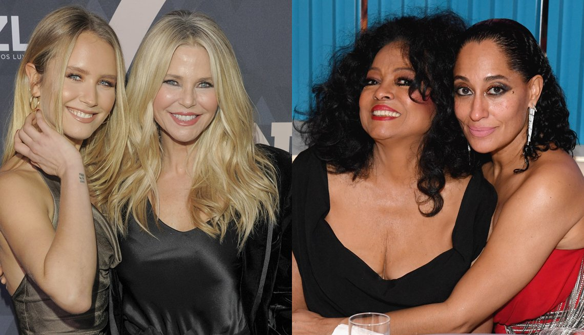 item 5, Gallery image. Sailor Brinkley Cook  and Christie Brinkley; Diana Ross and Tracee Ellis Ross