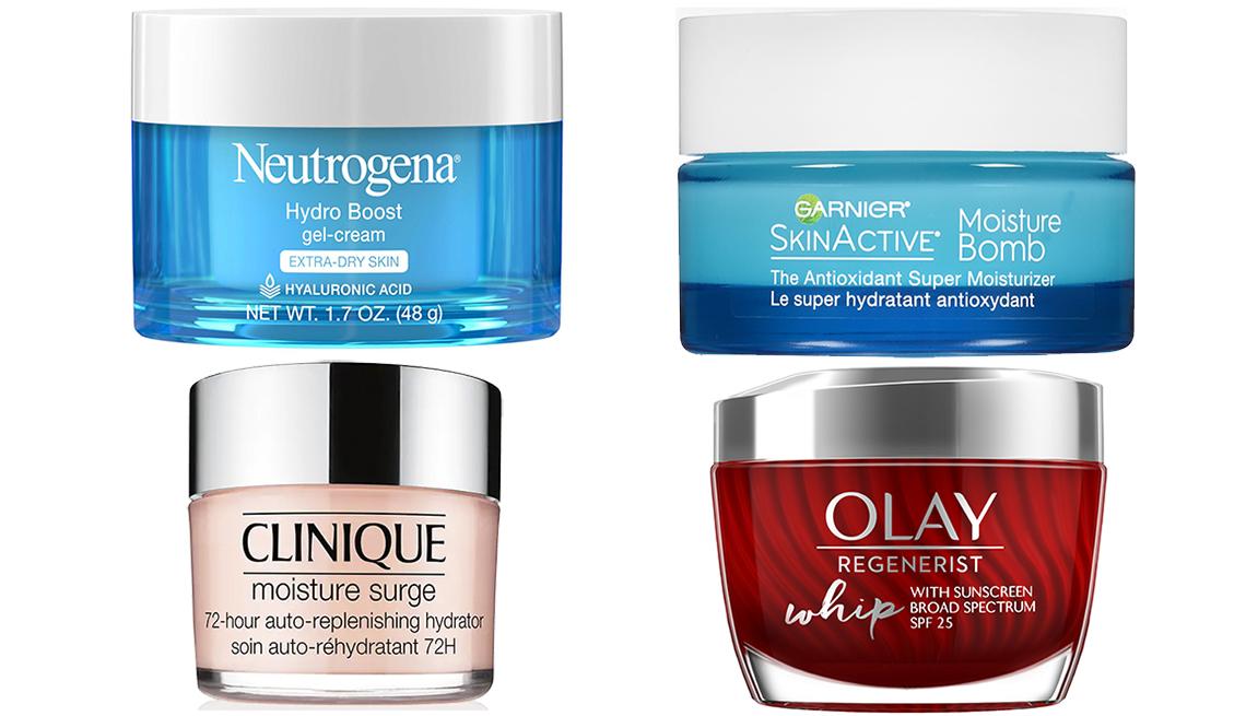item 3 of Gallery image - Neutrogena Hydro-Boost Gel- Cream for Extra Dry Skin; Garnier SkinActive Moisture Bomb; Olay Regenerist Whip Face Moisturizer  SPF 25; Clinique Moisture Surge 72-Hour Auto- Replenishing Hydrator