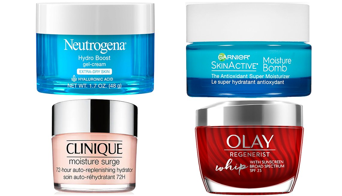 item 3, Gallery image. Neutrogena Hydro-Boost Gel- Cream for Extra Dry Skin; Garnier SkinActive Moisture Bomb; Olay Regenerist Whip Face Moisturizer  SPF 25; Clinique Moisture Surge 72-Hour Auto- Replenishing Hydrator