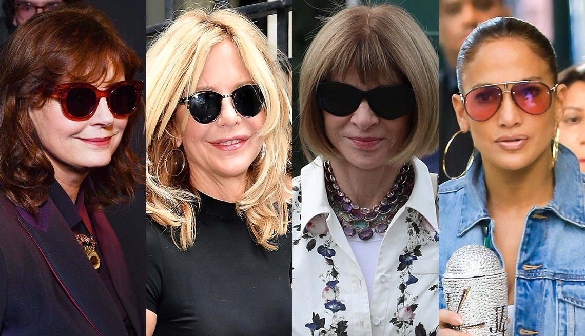 item 11, Gallery image. Susan Sarandon, Meg Ryan, Ann Wintour, Jennifer Lopez