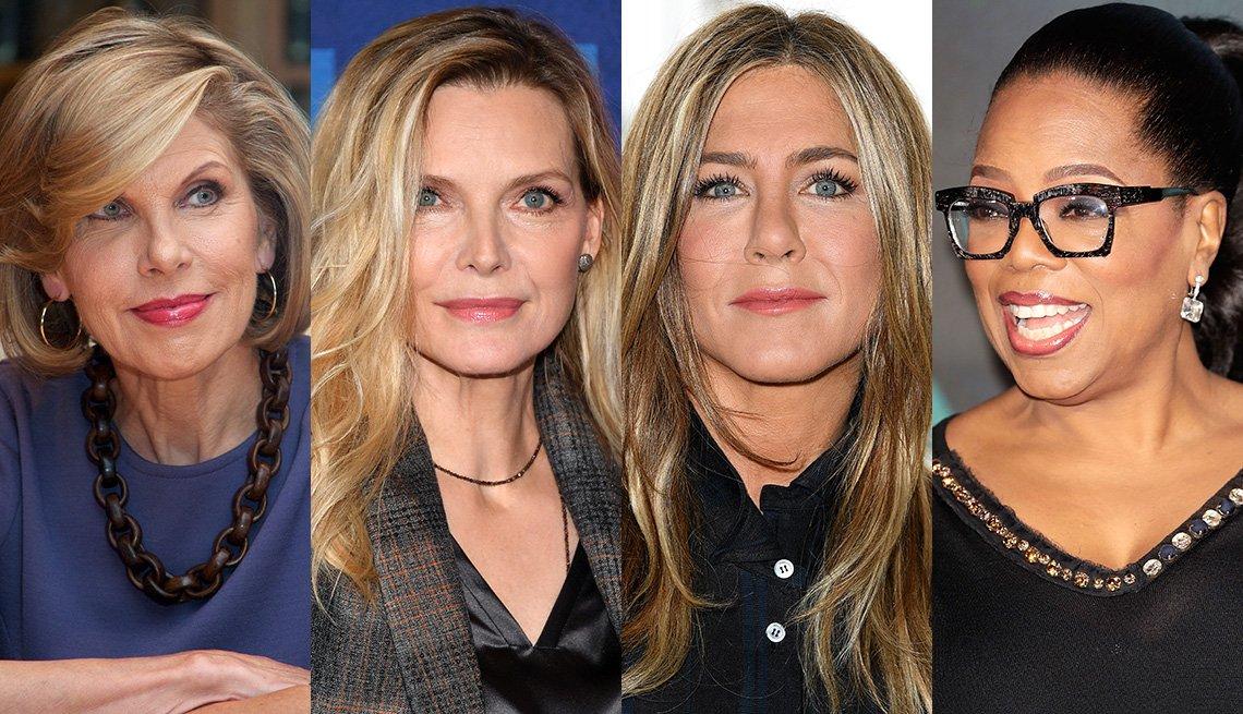 item 12, Gallery image. Christine Baranski, Michelle Pfeiffer, Jennifer Aniston, Oprah Winfrey