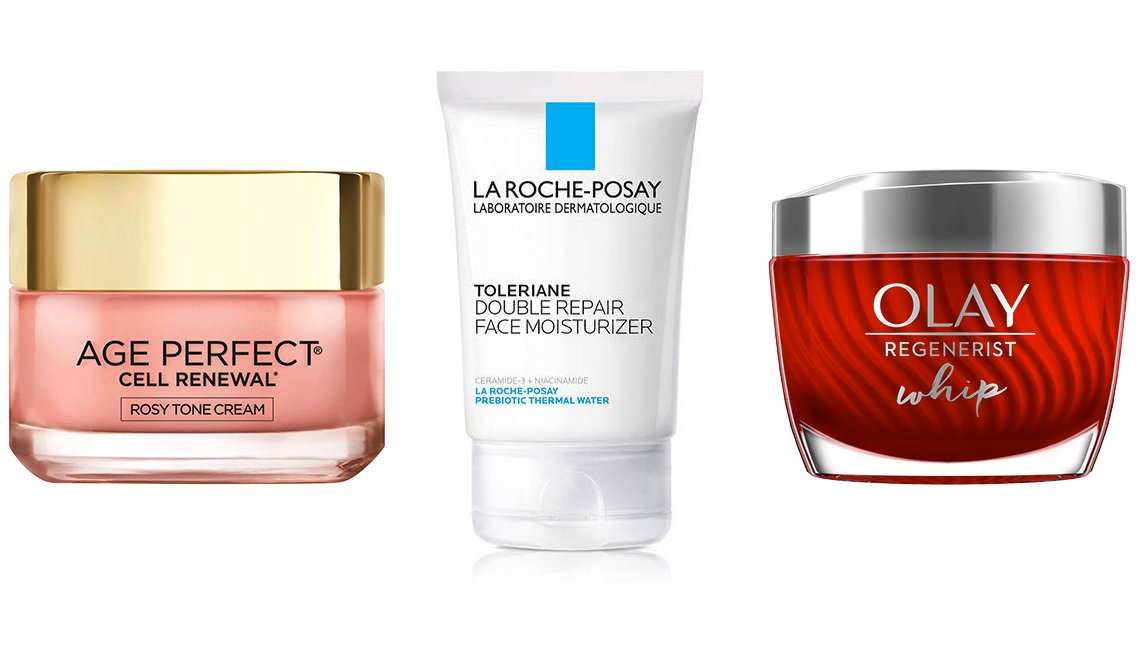 item 3, Gallery image. L' Oreal Paris Age Perfect Cell Renewal Rosy Tone Cream; La Roche- Posay Toleriane Double Repair Face Moisturizer; Olay Regenerist Whip  Face Moisturizer