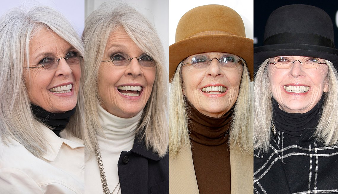 item 11, Gallery image. Diane Keaton, four ways