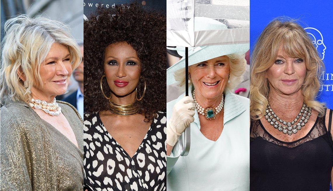 item 6, Gallery image. Martha Stewart, Iman Abdulmagid, Camilla Duchess of Cornwall, Goldie Hawn