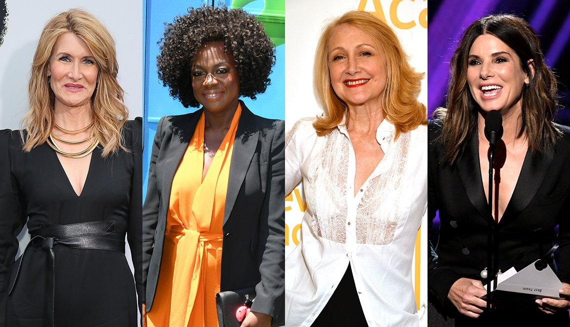 item 5, Gallery image. Laura Dern, Viola Davis, Patricia Clarkson, Sandra Bullock