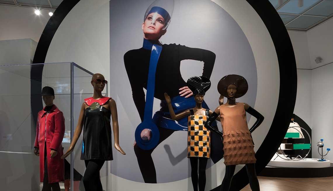 Exhibición de Pierre Cardin en el museo de Brooklyn, Nueva York, 2019.
