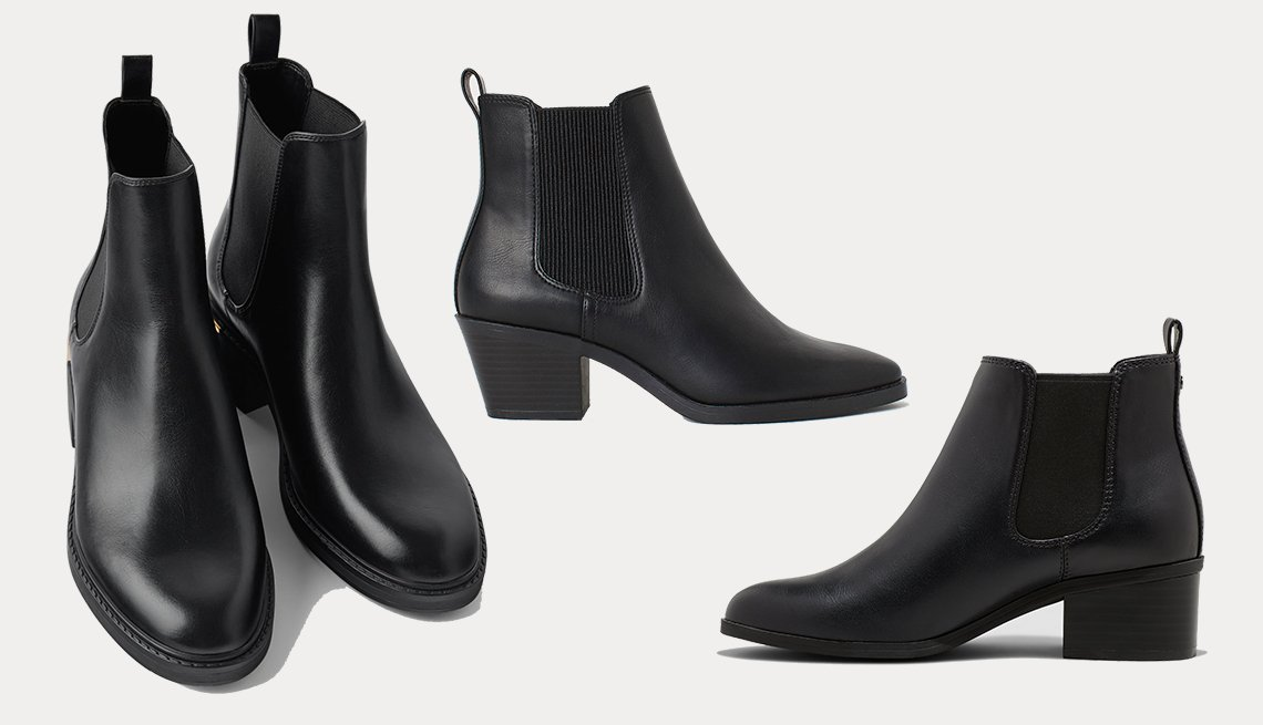 item 2, Gallery image. (izq. a dcha.): Low-Heeled Ankle Boots with Trim at Heel de Zara, Ankle Boots de H & M, Ellie Chelsea Bootie de A New Day.