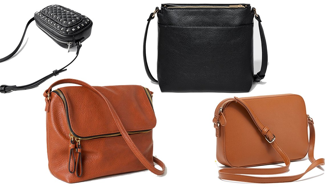 item 8, Gallery image. (Clockwise): Zara Quilted Studded Crossbody Bag, A New Day Midsize Crossbody Bag, Old Navy Faux- Leather Crossbody Bag for Women, H & M Shoulder Bag