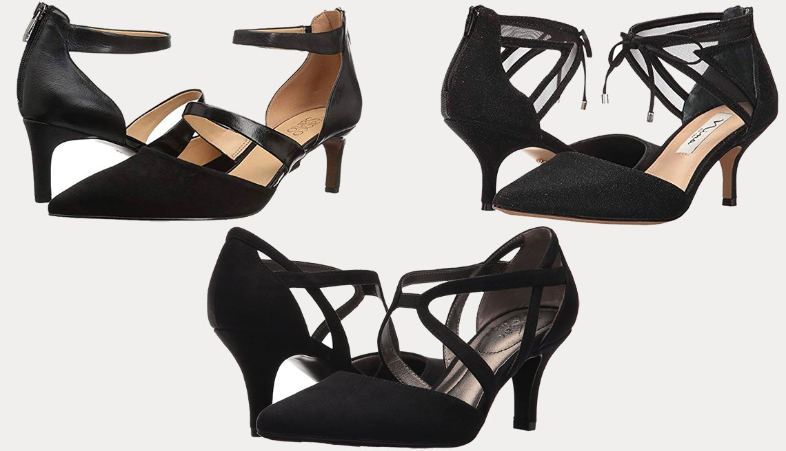 item 3 of Gallery image - (l to r): Franco Sarto Davey, Lifestride Seamless in Black Micro, Nina Talley in Black