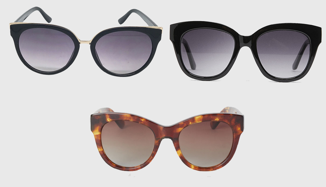 item 9 of Gallery image - (en sentido horario): Women's Cat Eye Sunglasses de A New Day, Plastic Glasses de Zara, Polarized Sunglasses de H & M.