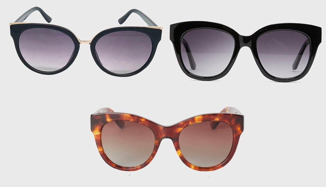 item 9, Gallery image. (en sentido horario): Women's Cat Eye Sunglasses de A New Day, Plastic Glasses de Zara, Polarized Sunglasses de H & M.