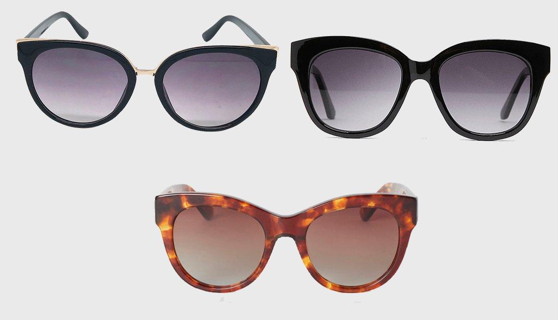 item 10, Gallery image. (clockwise): A New Day Women's Cat Eye Sunglasses,  Zara Plastic Glasses, H & M Polarized Sunglasses