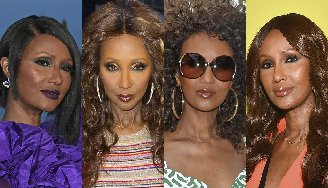 item 4 of Gallery image - The ever-changing hairstyles of Iman.