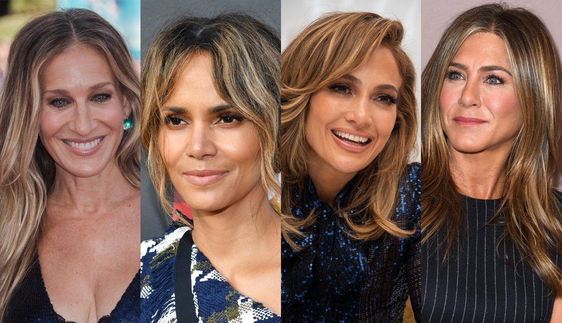 item 7, Gallery image. Sarah Jessica Parker, Halle Berry, Jennifer Lopez, Jennifer Aniston