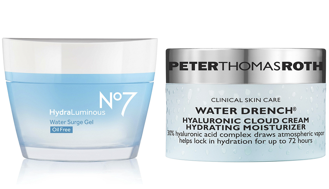 item 10 of Gallery image - No7 Hydraluminous Water Surge Gel, Peter Thomas Roth Water Drench Hyaluronic Cloud Cream