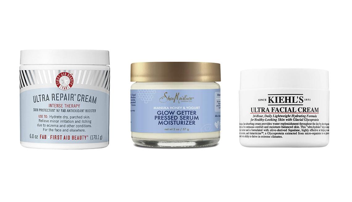 item 8 of Gallery image - First Aid Beauty Ultra Repair Cream, SheaMoisture Manuka Honey & Yogurt Healthy Glow Pressed Serum Moisturizer, Kiehl's Since 1851 Ultra Facial Cream