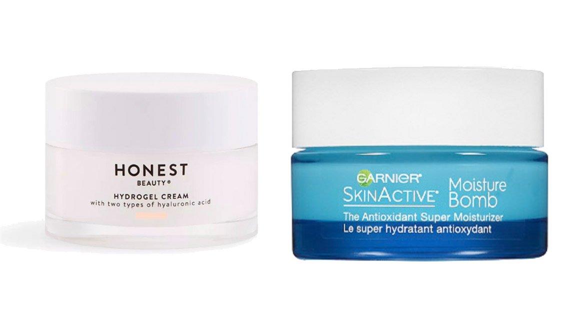item 3, Gallery image. Honest Beauty Hydrogel Cream, Garnier SkinActive Moisture Bomb Antioxidant Super Moisturizer