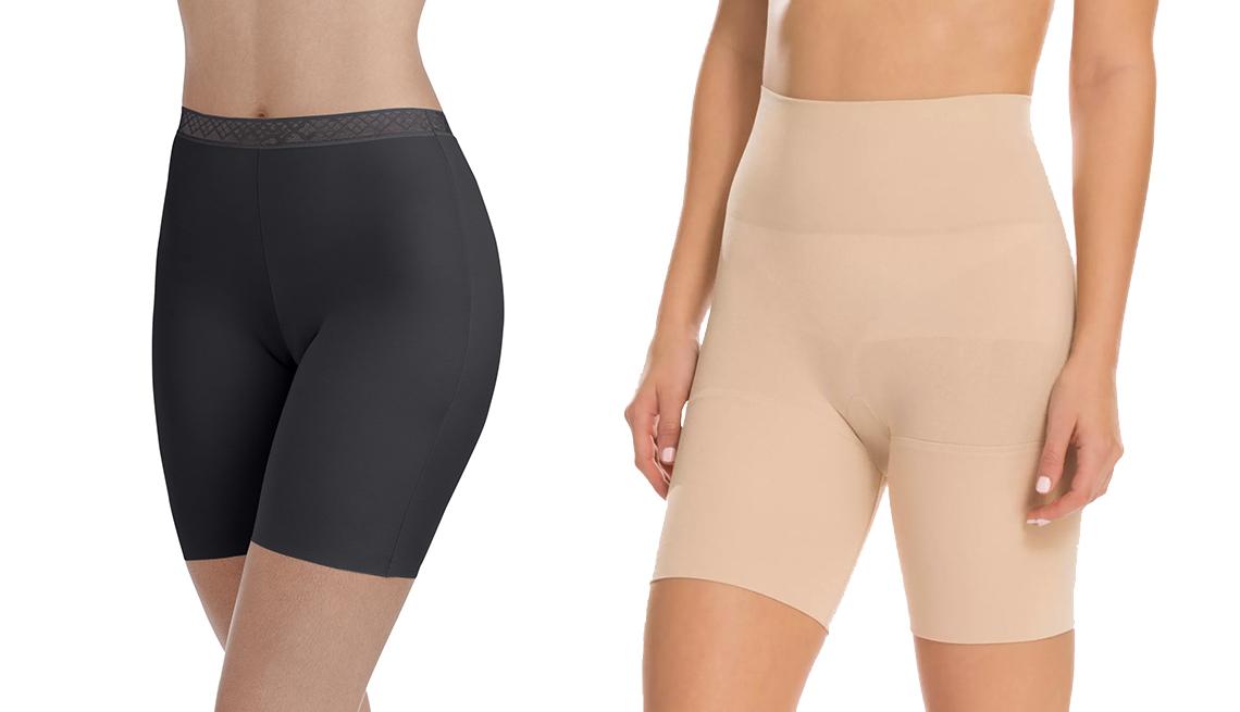 item 2 of Gallery image - Pantalones cortos deslizables de Radiant by Vanity Fair con borde invisible y tejido suave; prenda modeladora estilo Remarkable Results, de Assets by Spanx, con largo a mitad del muslo.