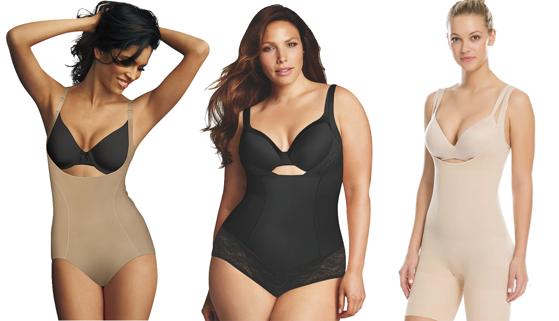 item 5 of Gallery image - Maidenform Shapewear Ultimate Slimmer Torsette Body Briefer, Plus-Size Maidenform Shapewear Curvy Firm Wear Your Own Bra Body Shaper, Assets by Spanx Women's Remarkable Results All-In-One Body Slimmer