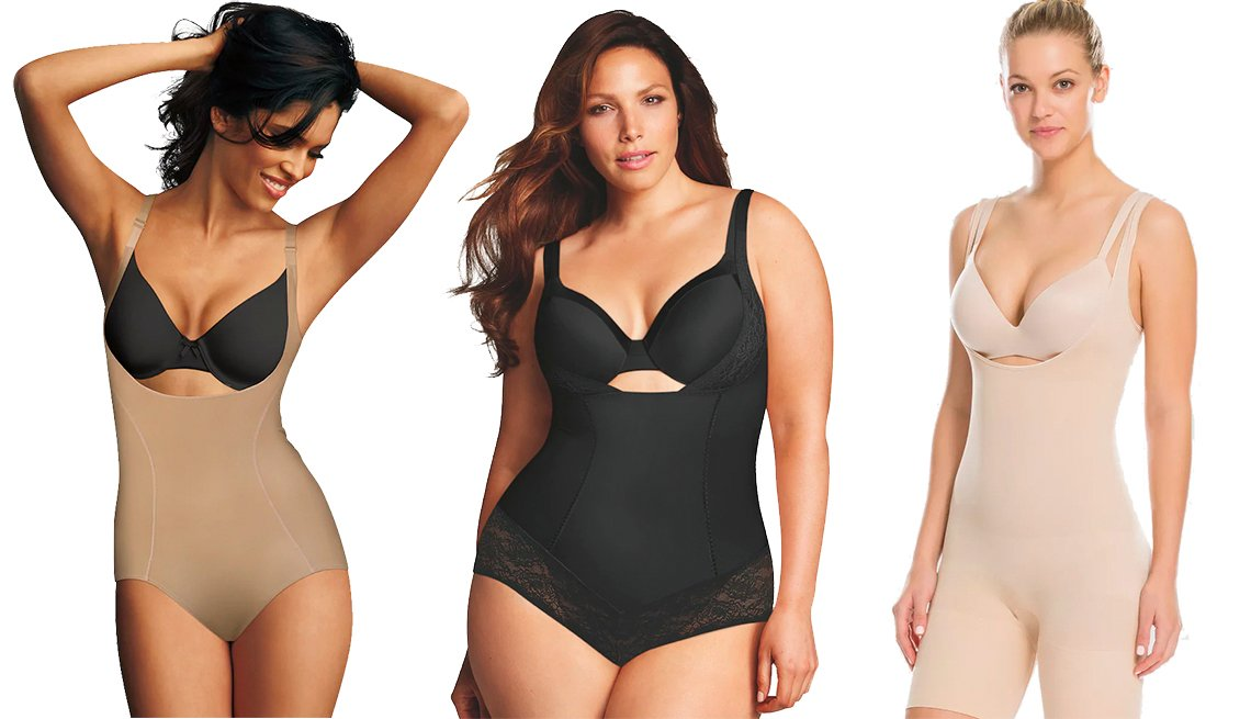 item 5, Gallery image. Maidenform Shapewear Ultimate Slimmer Torsette Body Briefer, Plus-Size Maidenform Shapewear Curvy Firm Wear Your Own Bra Body Shaper, Assets by Spanx Women's Remarkable Results All-In-One Body Slimmer