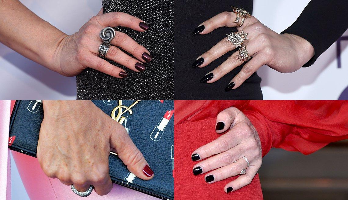 item 5, Gallery image. (En sentido de las manecillas del reloj desde la esquina superior izquierda): Naomi Grossman, Jennifer Lopez, Isabelle Huppert, Toni Collette.