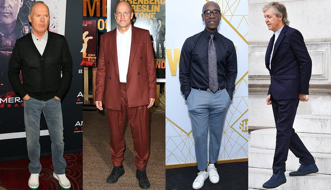 item 2, Gallery image. Michael Keaton, Woody Harrelson, Don Cheadle, Paul McCartney