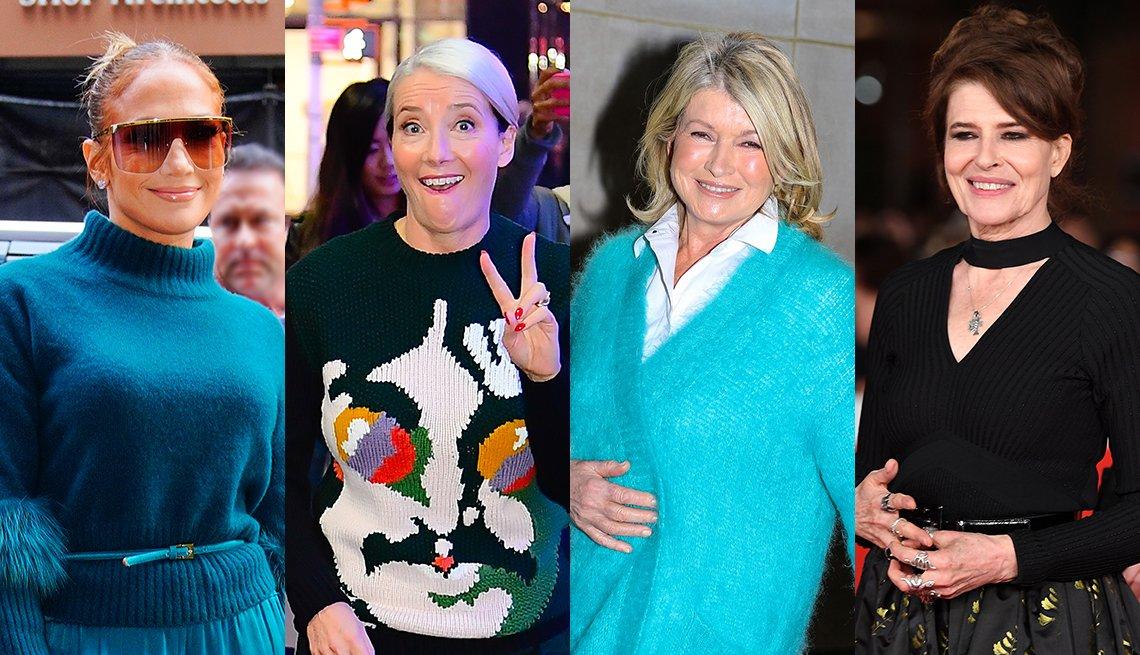 Jennifer Lopez, Emma Thompson, Martha Stewart, Fanny Ardant