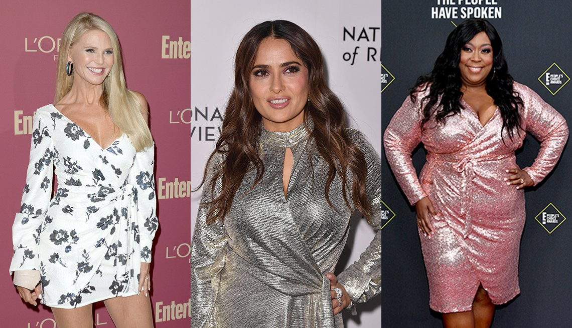 item 6, Gallery image. Christie Brinkley (left), Salma Hayek (center) and Loni Love