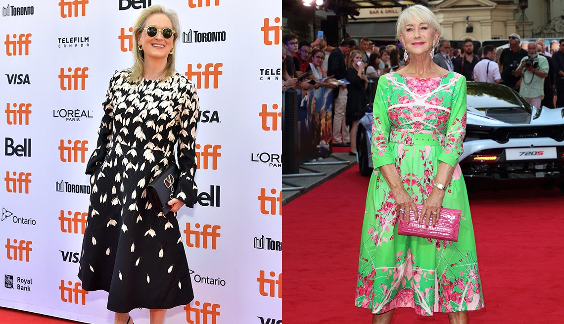 item 7, Gallery image. Meryl Streep (left) and Helen Mirren