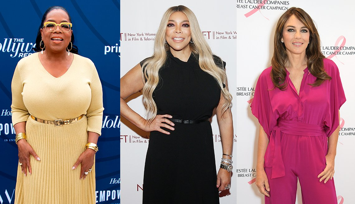 item 4, Gallery image. Oprah Winfrey, Wendy Williams y Elizabeth Hurley