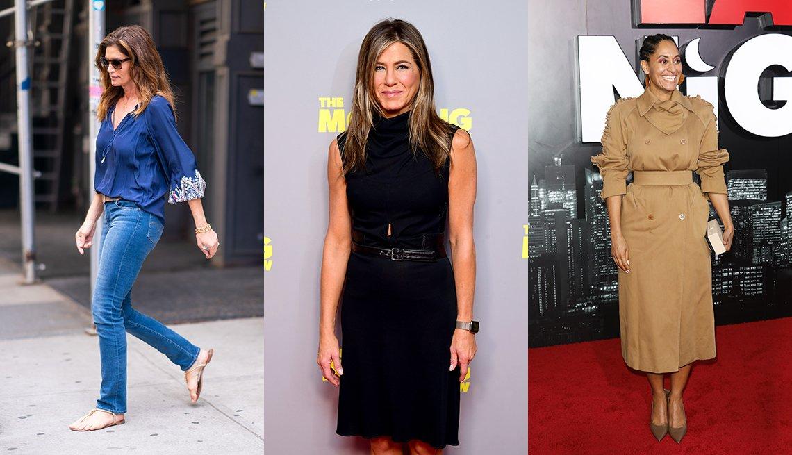 Cindy Crawford, Jennifer Aniston y Tracee Ellis Ross