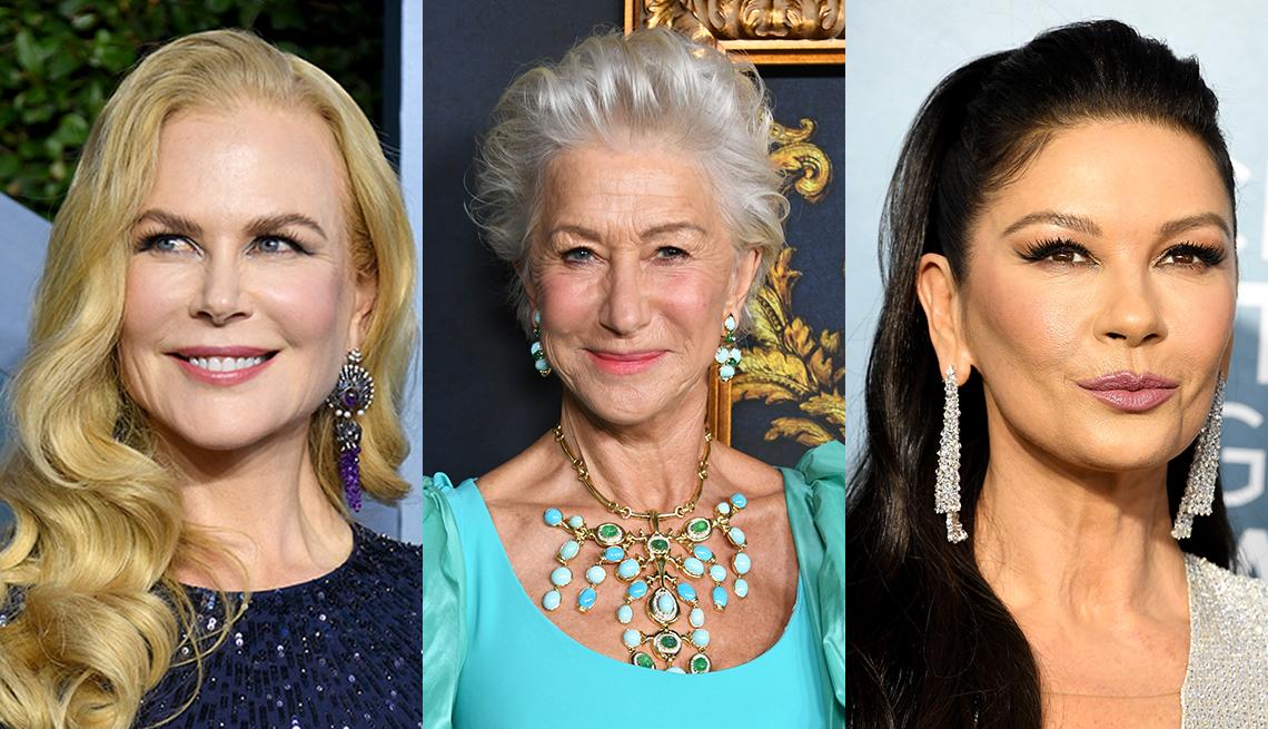 item 5 of Gallery image - Side by side images of Nicole Kidman Helen Mirren and Catherine Zeta Jones