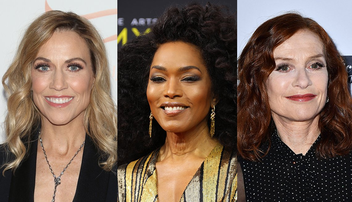 item 6, Gallery image. Cantante Sheryl Crow, actrices Angela Bassett y actress Isabelle Huppert.