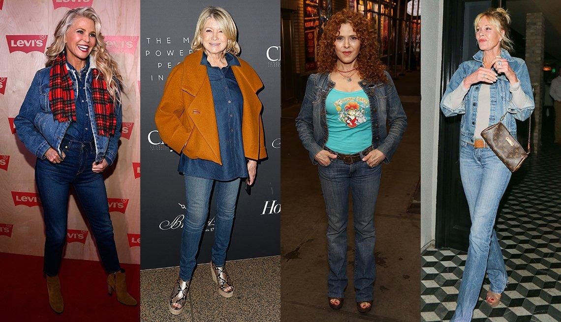 item 9, Gallery image. Christie Brinkley, Martha Stewart, Bernadette Peters y Melanie Griffith.