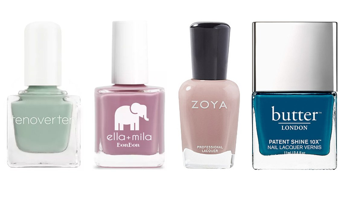 item 8, Gallery image. (De izq. a der.) tenoverten Nail Polish; ella+mila Nail Polish Collection; Zoya Nail Lacquer; butter LONDON Patent Shine 10X Nail Lacquer