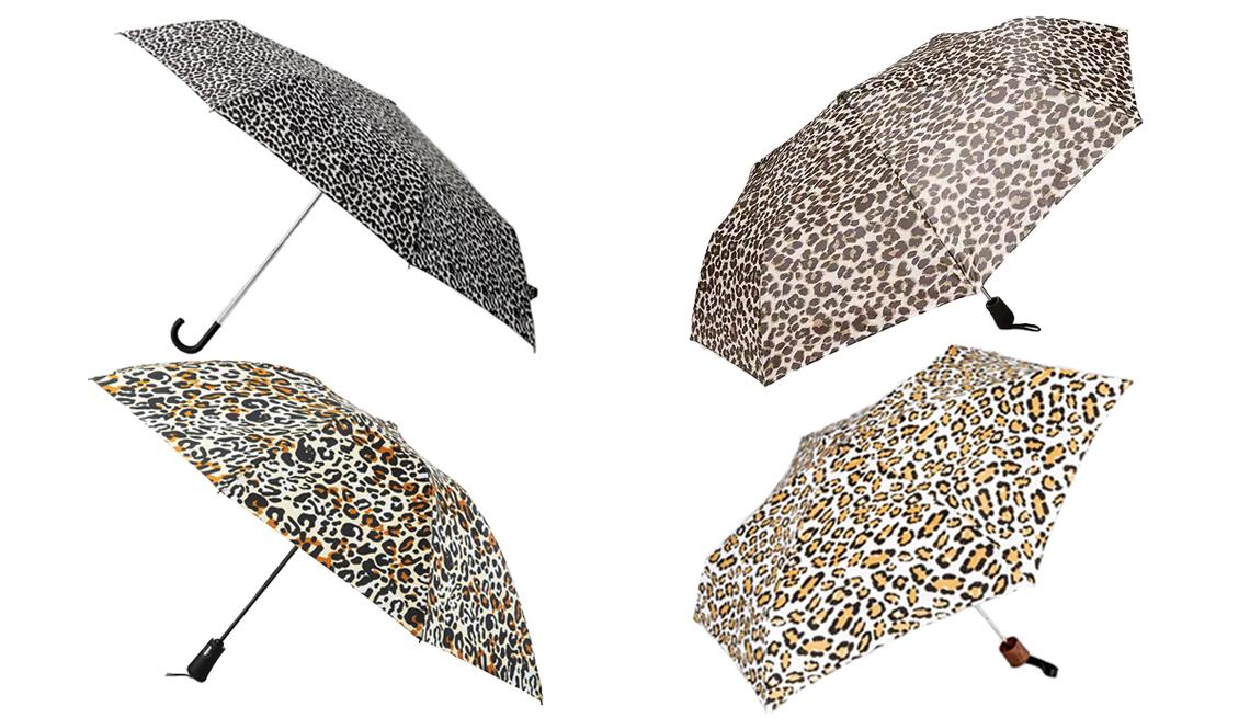 item 3 of Gallery image - MANGO Leopard print umbrella Old Navy Compact Automatic Umbrella Cirra by ShedRain Leopard Print Mini Manual Compact Umbrella Totes Automatic Reverse Close InBrella Umbrella
