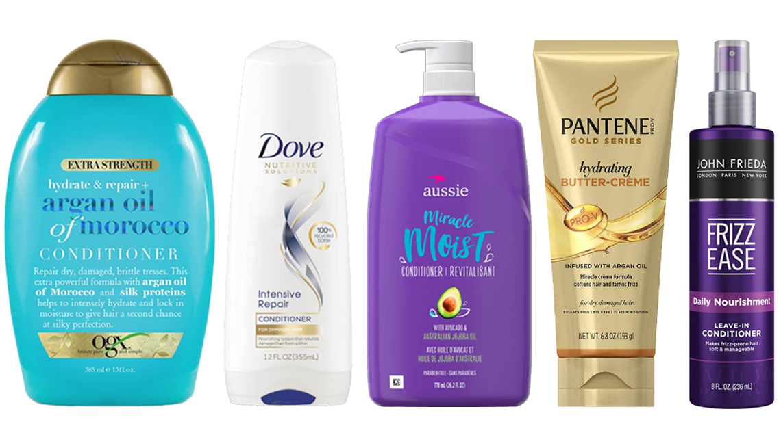 item 2 of Gallery image - O G X Hydrate and Repair Argan Oil of Morocco Extra Strength Conditioner Dove Nutritive Solutions Conditioner Intensive Repair Aussie Miracle Moist Conditioner Avocado and Australian Jojoba Oil Pantene Pro V Hydrating Butter Cream with Argan Oil