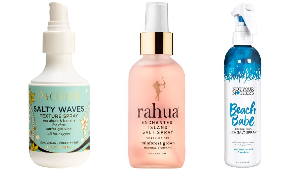 item 9, Gallery image. (Left to right) Pacifica Salty Waves Texture Spray; Rahua Enchanted Island Salt Spray; Not Your Mother's Beach Babe Texturizing Sea Salt Spray