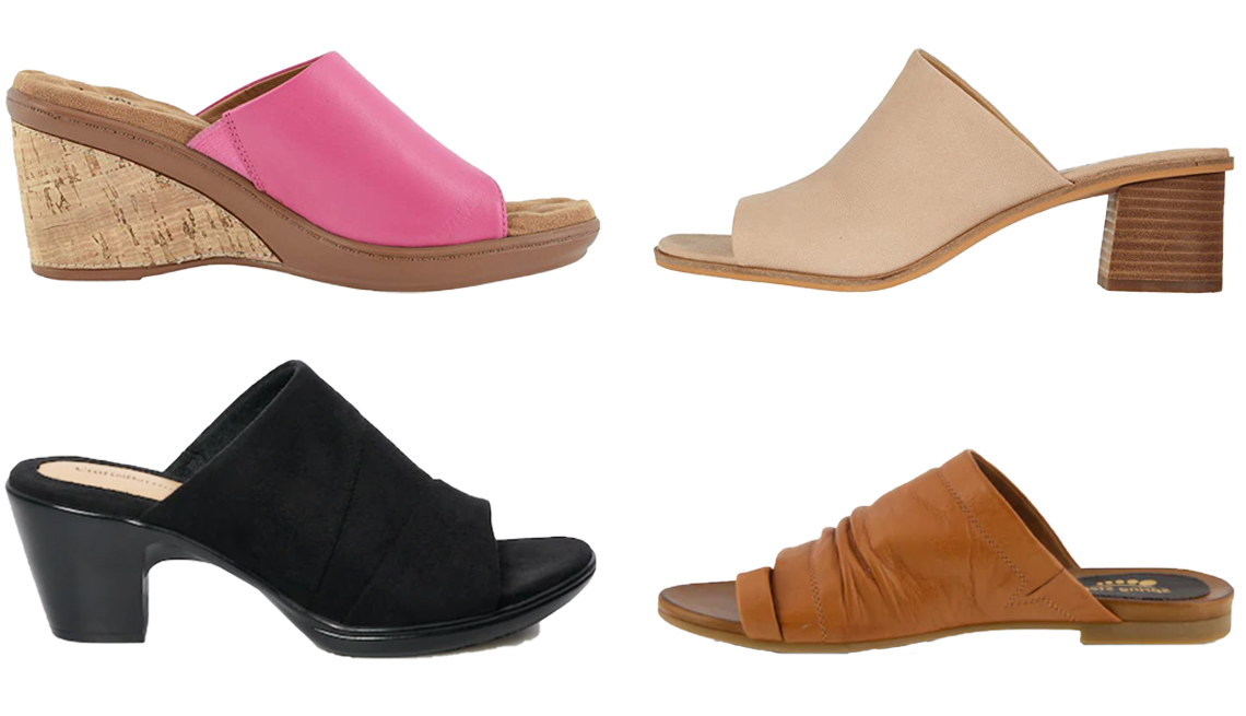 item 4 of Gallery image - Walking Cradles Lynn in Fuchsia Moroccan Lucky Brand Lutena in Moonlight Spring Step Womens Slide Sandals Ishtar in Camel Croft and Barrow Instrument Womens Slide Sandals in Black