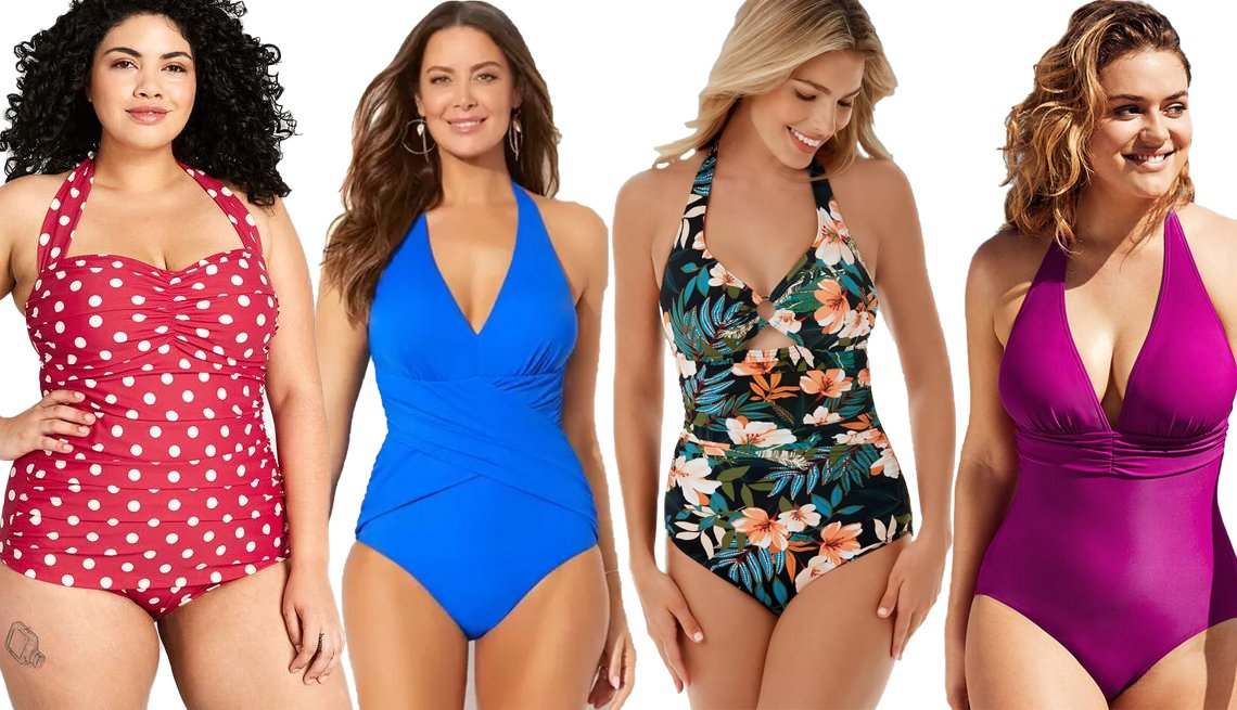 item 6 of Gallery image - Modcloth Bathing Beauty One Piece Swimsuit Swimsuits for All Royal Crossover Halter One Piece Swimsuit Dreamsuit by Miracle Brands Slimming Control Ring Front Halter One Piece Swimsuit Figleaves Tuscany Tummy Control One Piece Swimsuit in Berry