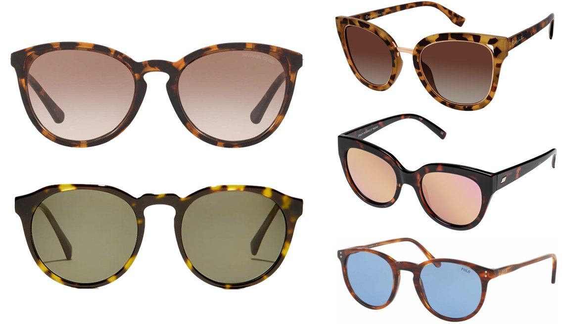 "item 6, Gallery image. (Clockwise from top left) Michael Kors MK2080U in Dark Tort/Smoke Gradient; Circus by Sam Edelman Women's CC447 Cat-Eye Sunglasses; Le Specs ""Crazy in Love"" Cat Eye Sunglasses in Tortoise; Polo PH4110 in Striped Havana/Light Blue Lens; J.Crew Portico Sunglasses in Brown Tort"
