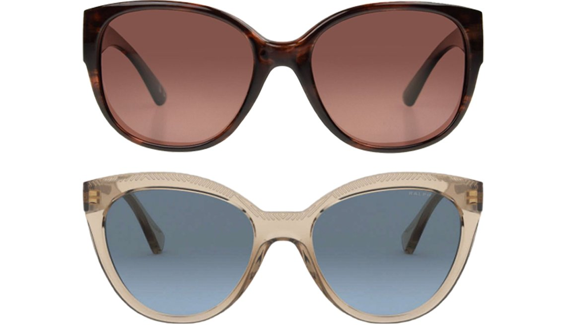 item 10, Gallery image. Foster Grant Jodi Sunglasses for Women (top); RALPH by Ralph Lauren RA5260 (bottom)