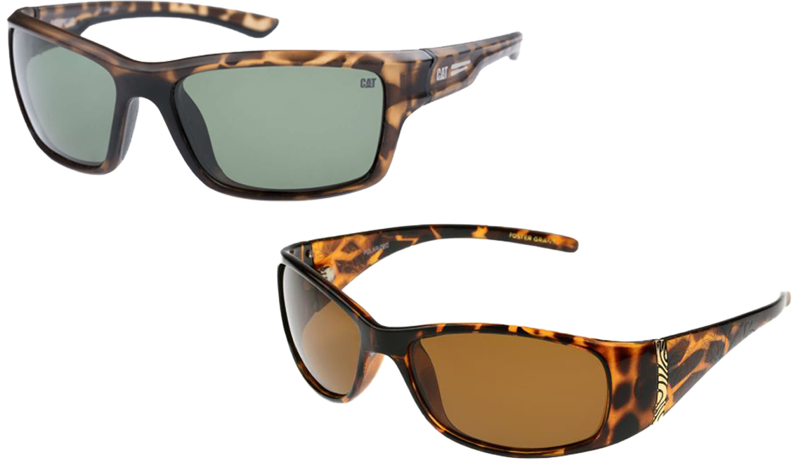 item 5 of Gallery image - Gafas de sol Caterpillar Ridge para hombre (arriba a la izq.); Foster Grant Juliet para mujer (abajo a la der.)