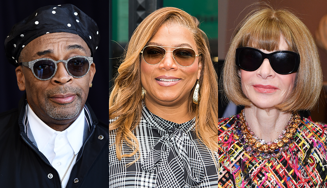 item 7 of Gallery image - Side by side images of Spike Lee, Queen Latifah and Anna Wintour all wearing sunglasses
