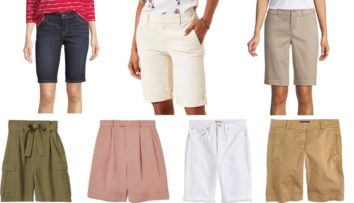 Liz Claiborne Womens Stretch 11 inch Bermuda Short Loft Bermuda Shorts St Johns Bay Womens Mid Rise 11 inch Bermuda Short J Crew 10 inch Bermuda Stretch Chino Short Madewell High Rise Long Denim Shorts Everlane The Put Together Pleat Short