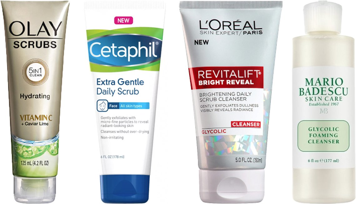 item 1 of Gallery image - Olay Scrubs Hydrating Vitamin C plus Caviar Lime Facial Cleanser Cetaphil Gentle Exfoliating Facial Cleanser LOreal Paris Revitalift Bright Reveal Cleanser Mario Badescu Glycolic Foaming Cleanser